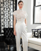 high neck short sleeve catherine deane wedding dress spring 2018