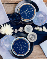 Blue Celestial Wedding Place Setting
