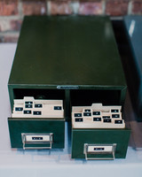 Escort Cards in File Cabinet