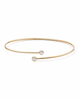 Gold Tiffany Bangle with Diamond