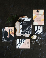 black stationery suite
