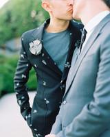 george shawn wedding grooms kissing