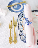 gingham tie on napkin