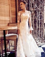 isabelle armstrong wedding dress fall 2018 lace long sleeves illusion a-line