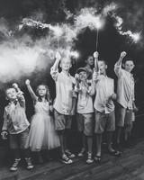 kids entertainment ideas sparklers black and white