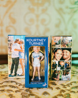 kourtney justin wedding mexico bobble heads