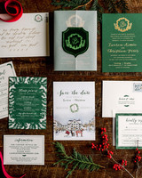 lauren christian christmas wedding stationery