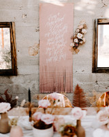 leather wedding ideas dyed sign