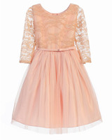 long sleeve flower girl dresses pink princess ballerina
