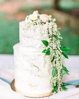 metallic wedding cake frosting