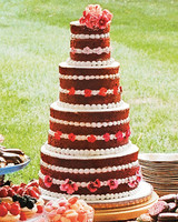 Four-Tiered Naked Red Velvet Cake
