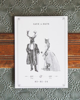 quirky animal save-the-date
