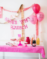 pink bridal shower backdrop