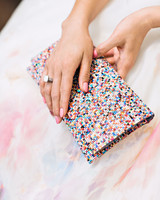 risa ross wedding brooklyn new york clutch