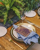 sanjay steven wedding placesetting