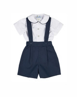 spring ring bearer outfits Florence Eiseman white and navy