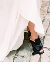 black wedding heels