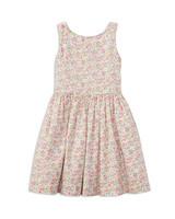 summer flower girl dress pink flowers pattern