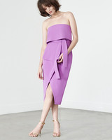 lavish alice tie-front strapless dress