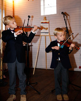 tory jonathan wedding ceremony kids playing violin