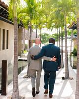 grooms walking