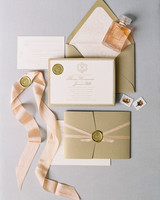 wax seal wedding invitations classic wax seal