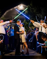 wedding exits lightsaber glowstick