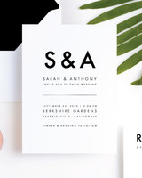 wedding stationery trends minimalism design invitation