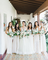 white bridesmaid dresses adrian jon photography