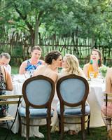 allison aimee wedding reception kiss