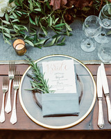 amanda patrick wedding placesetting