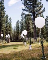balloon lined outdoor walkway