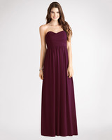 burgundy bridesmaid dress – Donna Morgan – Stephanie