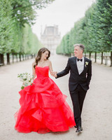 Paris wedding couple