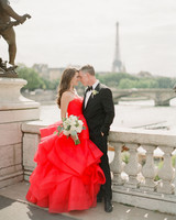 full red wedding dress