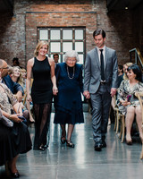 Grandmother Escorted Down Aisle