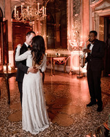 elle raymond venice wedding first dance saxophonist