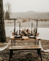 fall wedding centerpieces modern black and white dried flowers