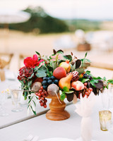 hana olu wedding centerpiece fruit