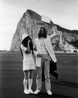 Yoko Ono and John Lennon Wedding Photo