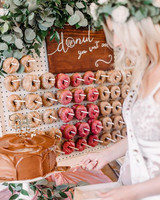 bridal shower ideas donut board chocolate cake