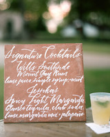 jessika william wedding cocktails