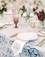 julia mitchell wedding place setting monogram