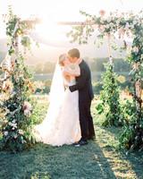 julianne aaron wedding ceremony kiss