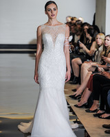 Justin Alexander Mermaid Wedding Dress with Illusion Neckline Spring 2018