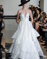 Justin Alexander Strapless Ball Gown Wedding Dress Spring 2018