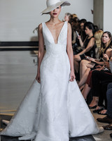 Justin Alexander Wedding Dress with V-Neck Spring 2018