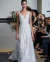 Justin Alexander Sheath Wedding Dress with Lace Spring 2018