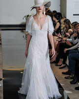 Justin Alexander Short-Sleeve Wedding Dress Spring 2018