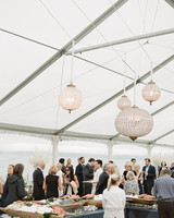 kaitlin dan wedding raw bar lanterns